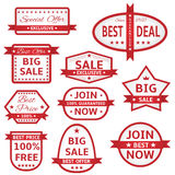 White labels with red frame Royalty Free Stock Photo