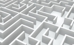 White Labyrinth Background Stock Photos