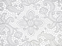 White lace. Lace floral pattern on white background royalty free stock image