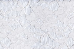 White lace. Patterns in white lace on a white background Stock Image