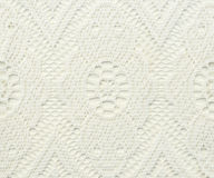 White lace with abstract pattern Royalty Free Stock Image