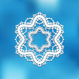 White lace background Royalty Free Stock Photography