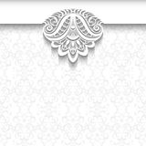 White lace background, wedding invitation template Royalty Free Stock Photos