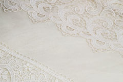 White lace background Royalty Free Stock Images
