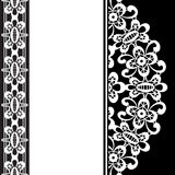 White lace on black Royalty Free Stock Photos