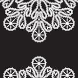 White lace on black Stock Images