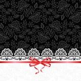 White lace on black background Royalty Free Stock Image