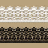 White Lace. Black Lace Seamless Pattern. Royalty Free Stock Photography