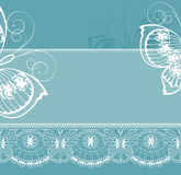 White  lace border Stock Photo