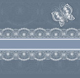 White  lace border Royalty Free Stock Images