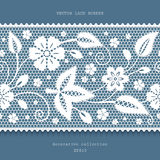 White lace border Royalty Free Stock Photo