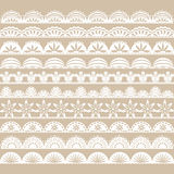 White Lace Border set royalty free illustration