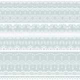 White lace borders Stock Photos