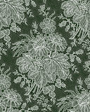White lace Bouquet. Floral Pattern. Royalty Free Stock Photos