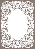 White Lace Card. Pastel Colored Background Stock Images