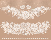White lace Clip art. Beige backgrounds stock illustration