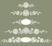 White Lace. Clip Art. Royalty Free Stock Images