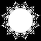 White Lace Doily Stock Photo