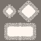 White Lace. Doily. Gray Background royalty free illustration