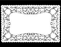 White Lace Doily Place Mat  Royalty Free Stock Photography