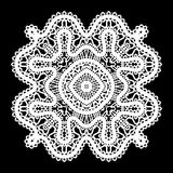 White lace doily Royalty Free Stock Images