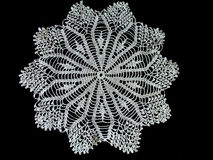 White lace doily Royalty Free Stock Photography
