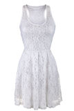 White lace dress Stock Photo