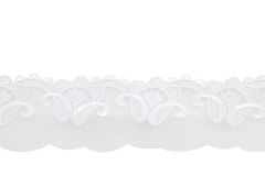 White Lace Fabric Stock Images