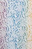 White lace fabric with floral pattern Stock Photography