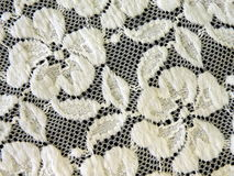 White lace fabric Royalty Free Stock Photo