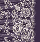 White Lace. Floral Seamless Pattern. Royalty Free Stock Images
