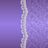 White lace with flowers and shade Royalty Free Stock Photos