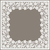 White Lace.  Foursquare Frame. Floral Pattern. Stock Photography