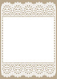 White Lace. Frame. Royalty Free Stock Image