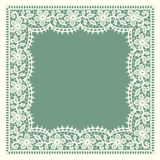 White Lace. Frame. floral Pattern. Royalty Free Stock Photography