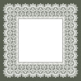 White Lace Frame. Royalty Free Stock Images