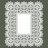 White Lace Frame. Royalty Free Stock Photos