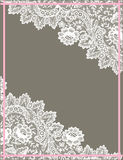 White Lace Frame. Stock Photography