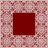 White Lace Frame Royalty Free Stock Image