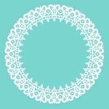White lace frame Royalty Free Stock Photo