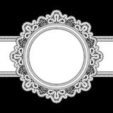 White lace frame Royalty Free Stock Photos