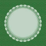 White lace frame with shadow Royalty Free Stock Image