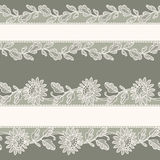 White Lace. Horizontal Seamless Pattern. Royalty Free Stock Photo