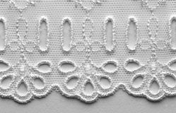 White lace material texture macro shot Stock Image