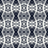 White lace on navy blue vector geometrical pattern Royalty Free Stock Images