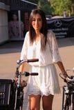 White lace outfit mbfwa Stock Image