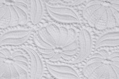White lace over white background Royalty Free Stock Images