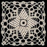 White lace pattern stock photography