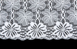 White lace with pattern in form flower Royalty Free Stock Images