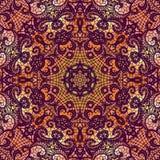 White lace pattern on orange background Stock Photography